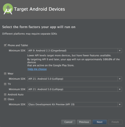 Android Studio - Target Android Devices