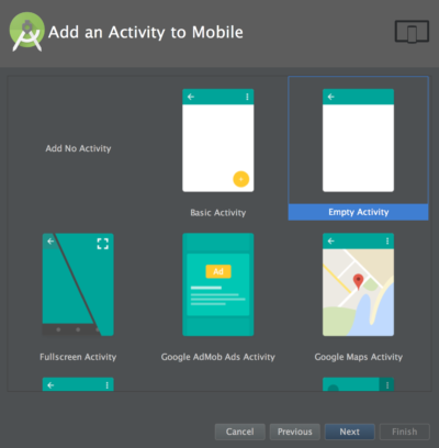 Android Studio templates