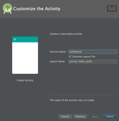 Android Studio - configurando Activity